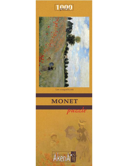 PUZZLE 1.000 PCS Les coquelicots - Monet 29,6x41.5-527