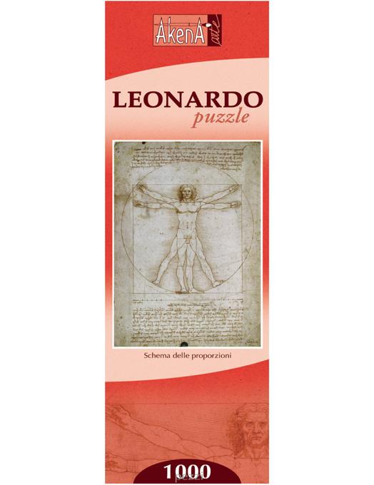 Schema delle proporzioni - Leonardo puzzle 1000 pezzi (tessere tradizionali)-0