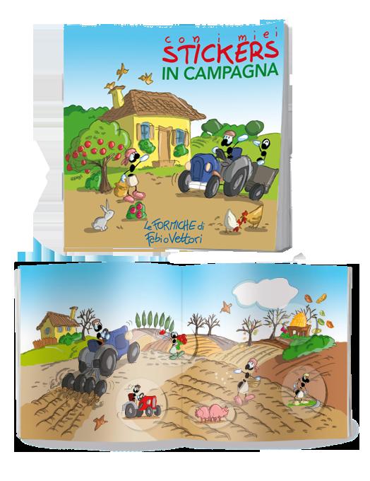 La fattoria, libretto di adesivi attacca-stacca per bambini