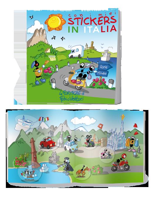In Italia, libretto con adesivi attacca-stacca per bambini - Le Formiche di Fabio Vettori