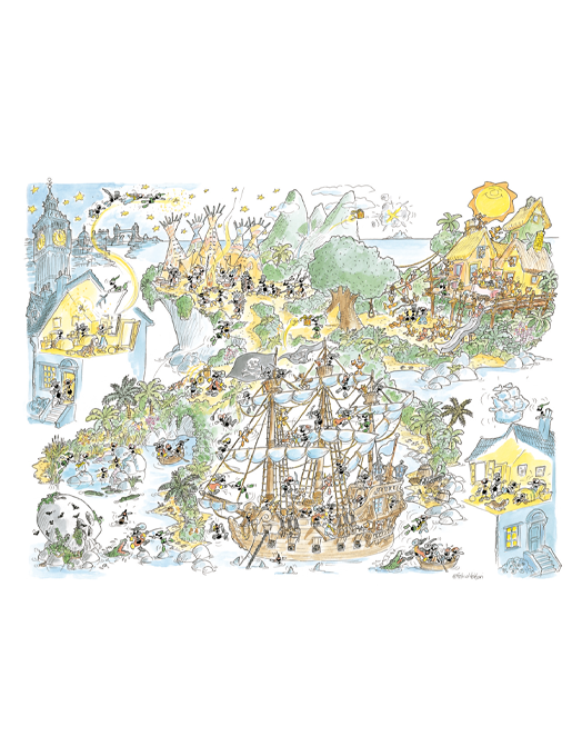 PETER PAN puzzle 50x70 col.-0