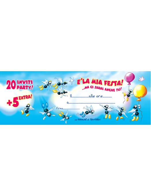 Inviti compleanno Angeli 25pz-0