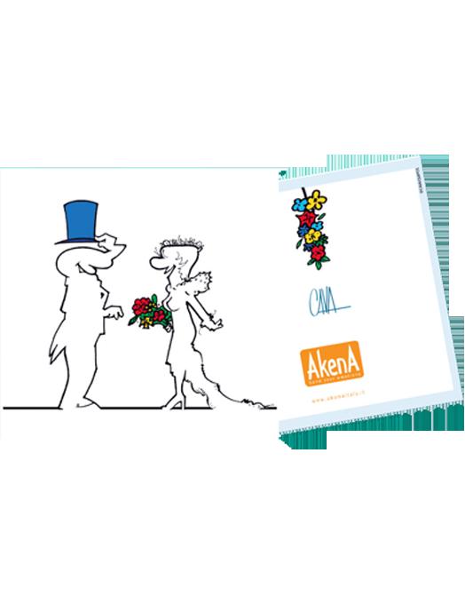 Mini biglietto di matrimonio La Linea