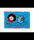 Biglietto puzzle per matrimonio illustrato e completo di messaggio nello stile della mitica Mafalda. Come si usa un biglietto puzzle? Facile! Scrivi la tua dedica sul retro, spezzata il puzzle, mette le tesserine dentro la busta e lascia a chi lo riceve il divertimento di ricomporlo per leggere il tuo messaggio. Messaggio: Neppure se girassi tutto il mondo... troverei una coppia innamorata come voi! Un'idea diversa per fare gli auguri agli sposi! Busta inclusa.
