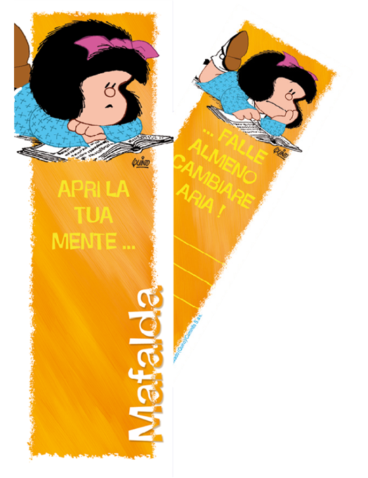 Segnalibro Mafalda - Giallo-0