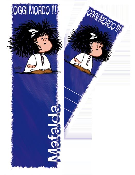 Segnalibro Mafalda - Blu-0