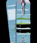 Biro con biglietto sul golf illustrato da Mordillo