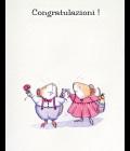 Una copia di topini felici - Biglietto di matrimonio