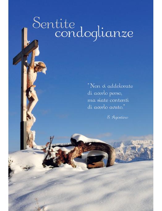 Biglietto di condoglianze con messaggio religioso