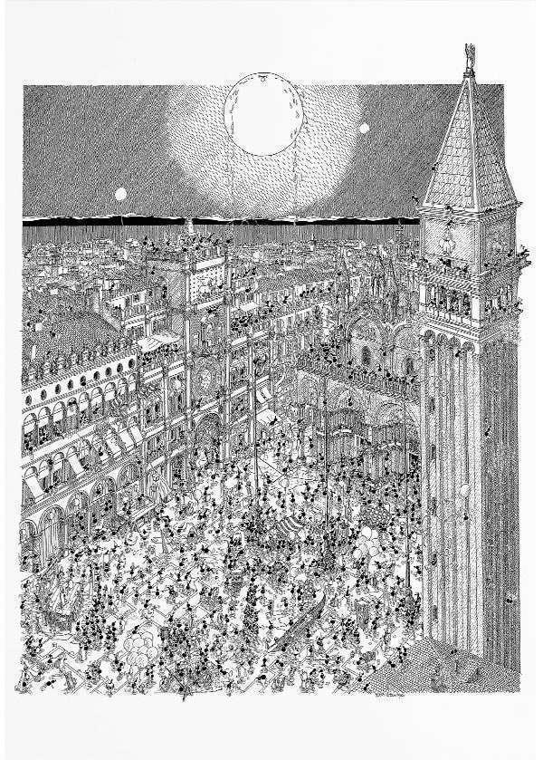 Le Formiche di Fabio Vettori al carnevale di Venezia, un puzzle di 1080 pezzi