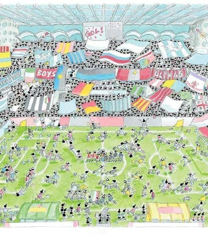 Stadio di calcio puzzle 50X70-0