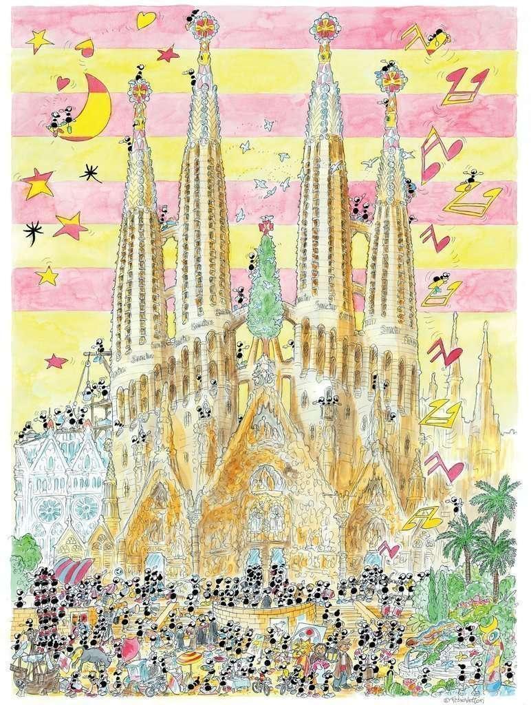 Sagrada Familia Puzzle 1080 pezzi - Le formiche di Fabio Vettori