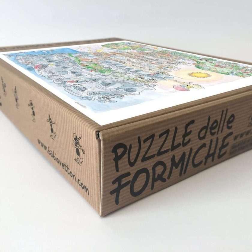 Puzzle Divina Commedia - Purgatorio - 1080 pezzi Le Formiche di Fabio Vettori - Scatola