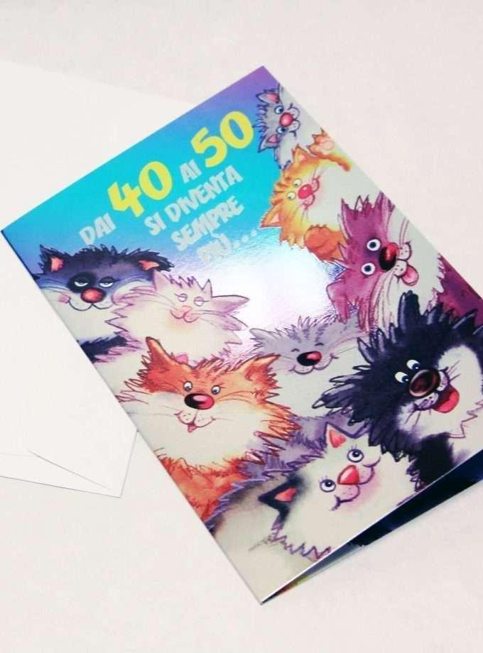 Biglietto compleanno Quattro Gatti - affascinante-0