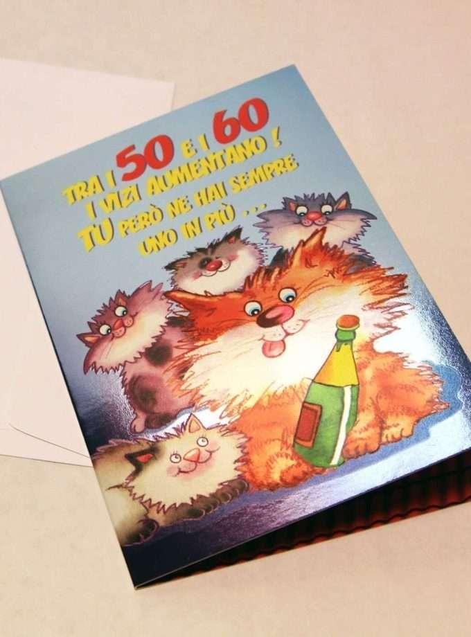 Biglietto compleanno Quattro Gatti - Vizi-0