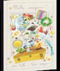 Biglietto di auguri illustrato - Cassetto dei sogni - Goccioline