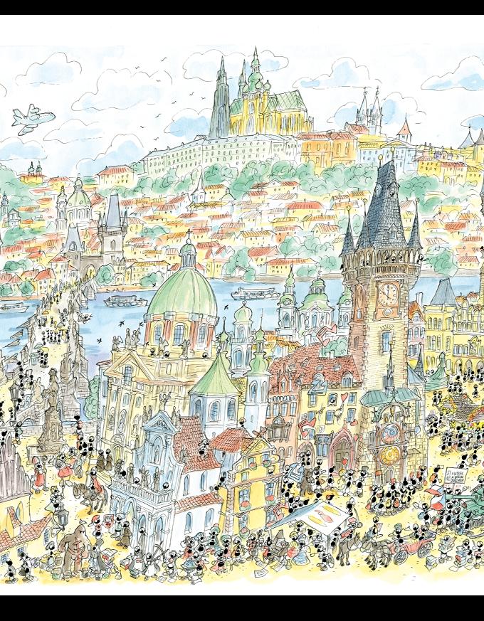 Puzzle • Praga • 50x70 • Le Formiche di Fabio Vettori
