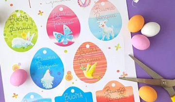 Free printable: Bigliettini per Pasqua