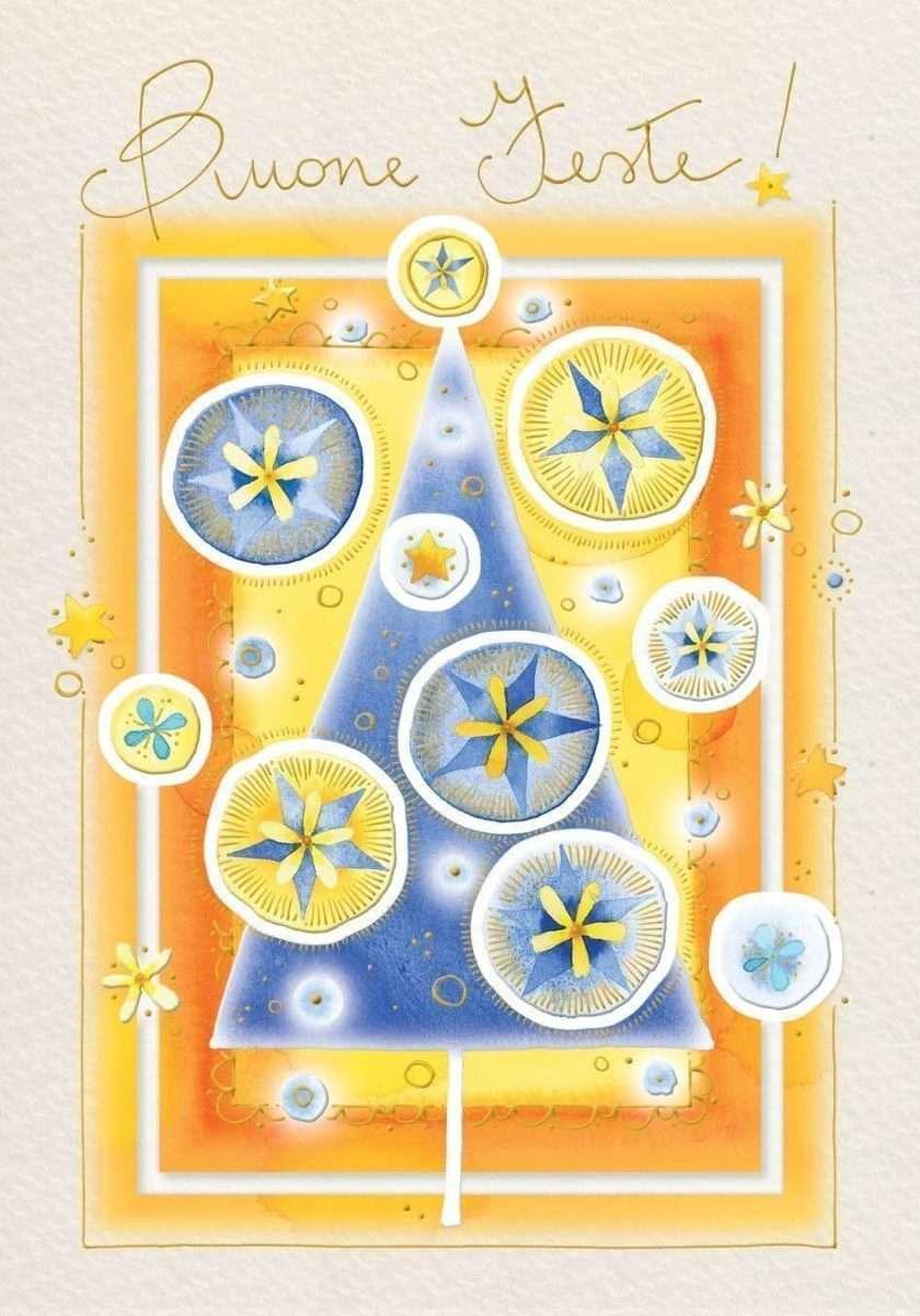 Abete blu e stelle di Natale-0