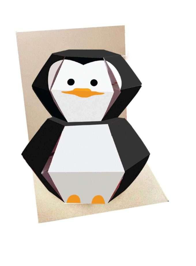 Pinguino Biglietto Pop Up interno