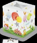 Portacandele decorato - palloncini colorati-0