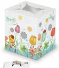 Portacandele decorato - tulipani-0
