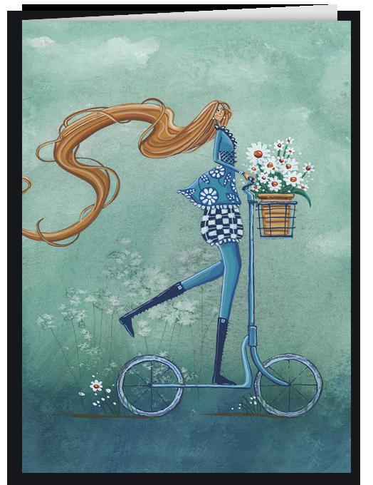 Ragazza in bicicletta azzurra-0