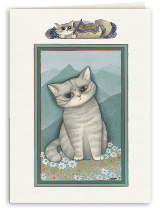 Prato fiorito e gatto-0