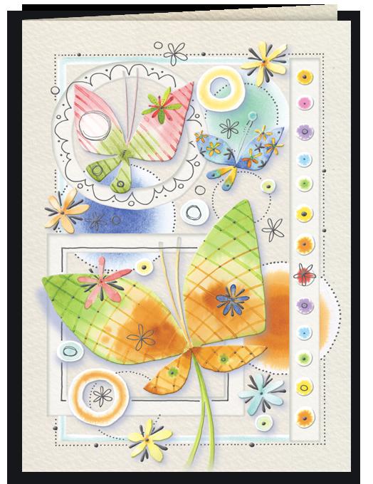 Farfalle e pallini colorati-0