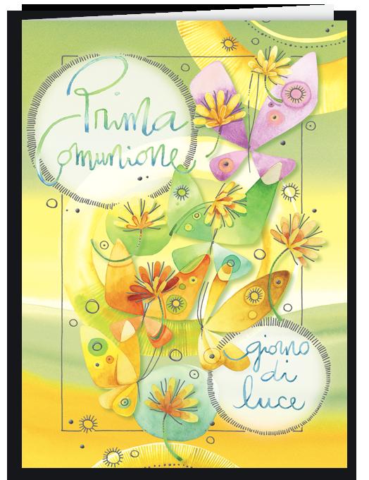 Prima Comunione - farfalle e fiori-0