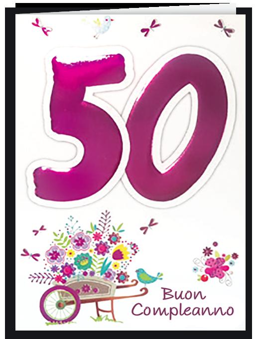 Buon compleanno 50 - per lei-0