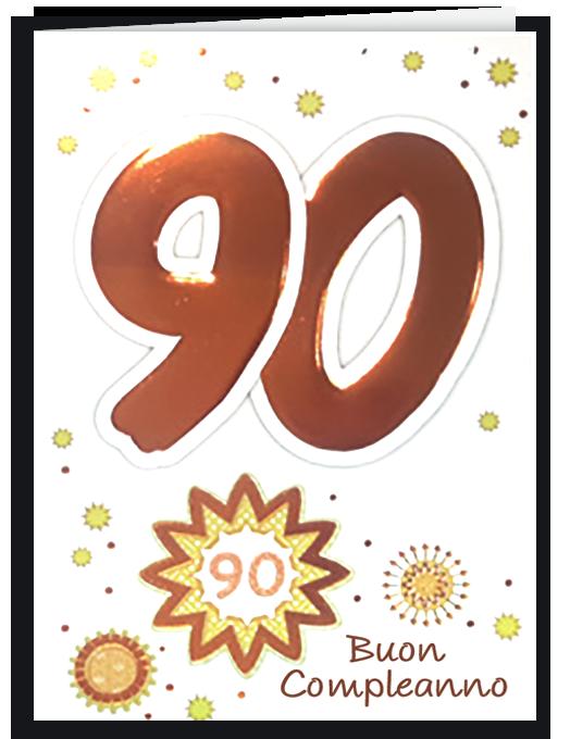 Biglietto di compleanno 90-0