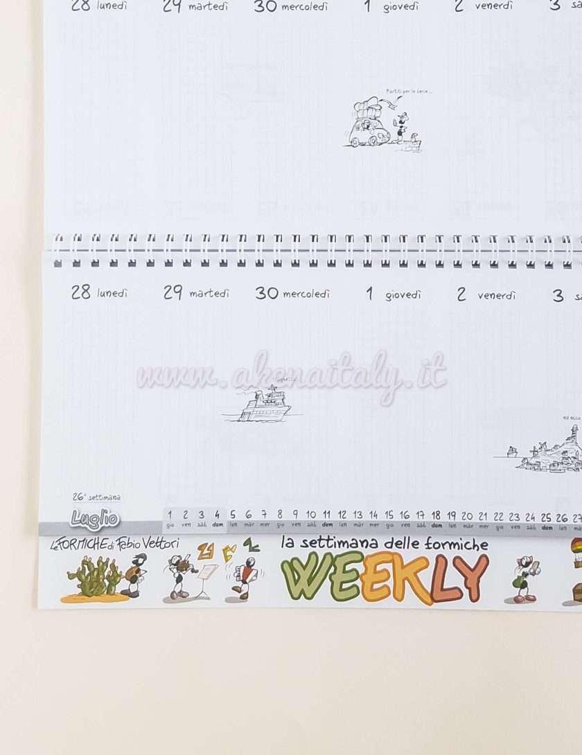 Weekly Planner Le Formiche di Fabio Vettori 2021 - Vista settimanale