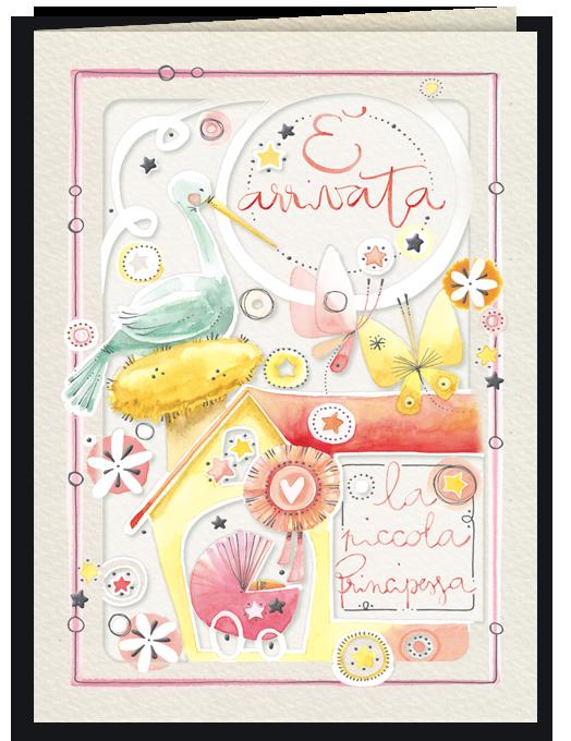 Biglietto per nascita bambina - Piccola Principessa