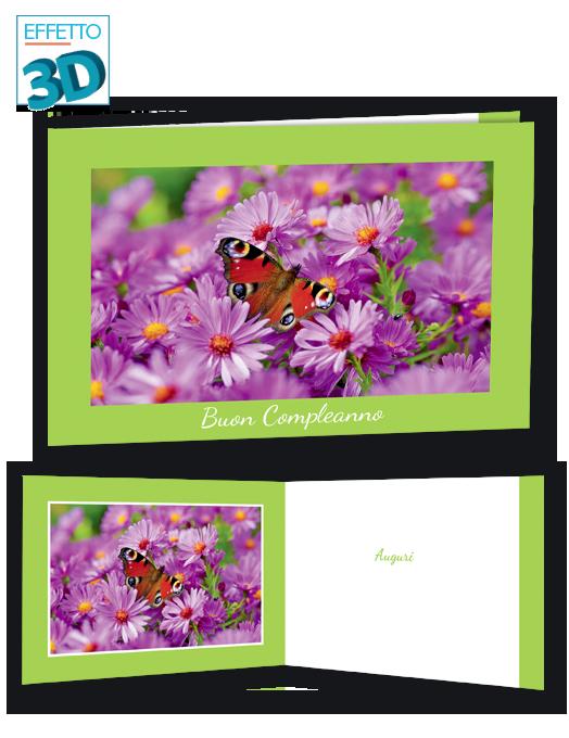 Una farfalla su fiori rosa-0