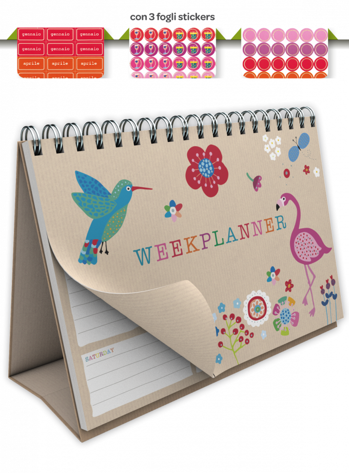 Planner settimanale senza date