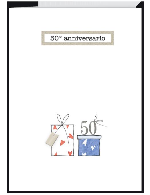 Biglietto 50 anni anniversario