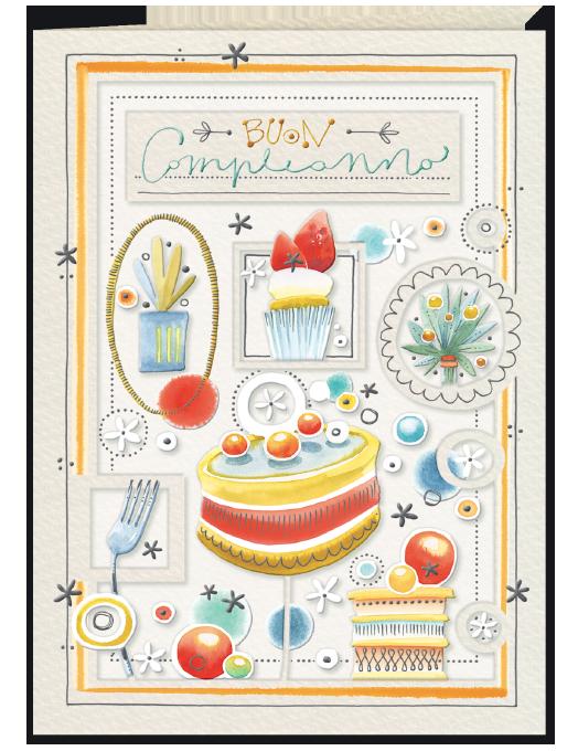 Biglietto di compleanno - torta e pasticcini-0