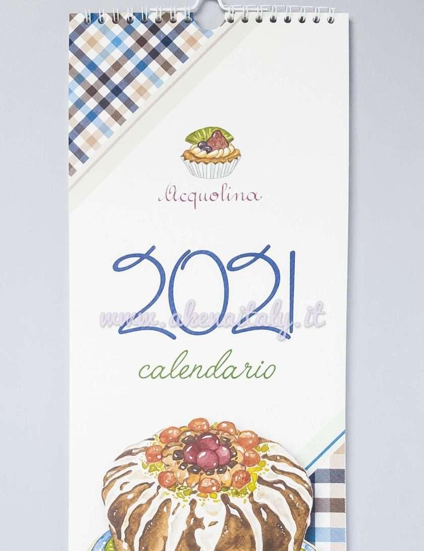 Calendario da parete Acquolina 2021 - Copertina