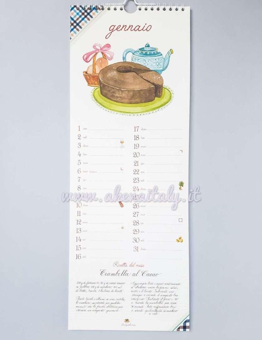 Calendario da parete Acquolina 2021 - Gennaio