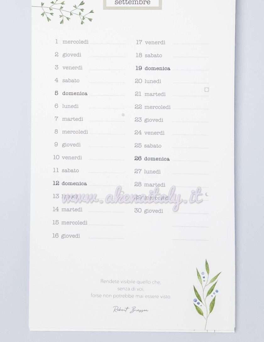 Calendario da parete China&Colore 2021 - Settembre frase