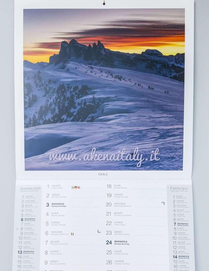 Calendario da parete Quadrato Dolomiti 2021 - Odle