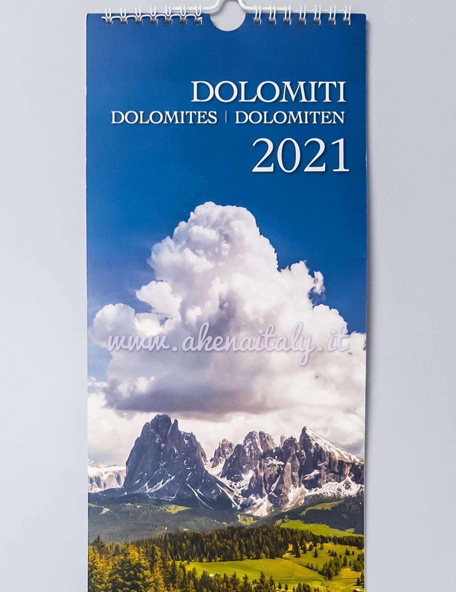 Calendario 2021 Dolomiti Calendario da parete Dolomiti 2021   Akena