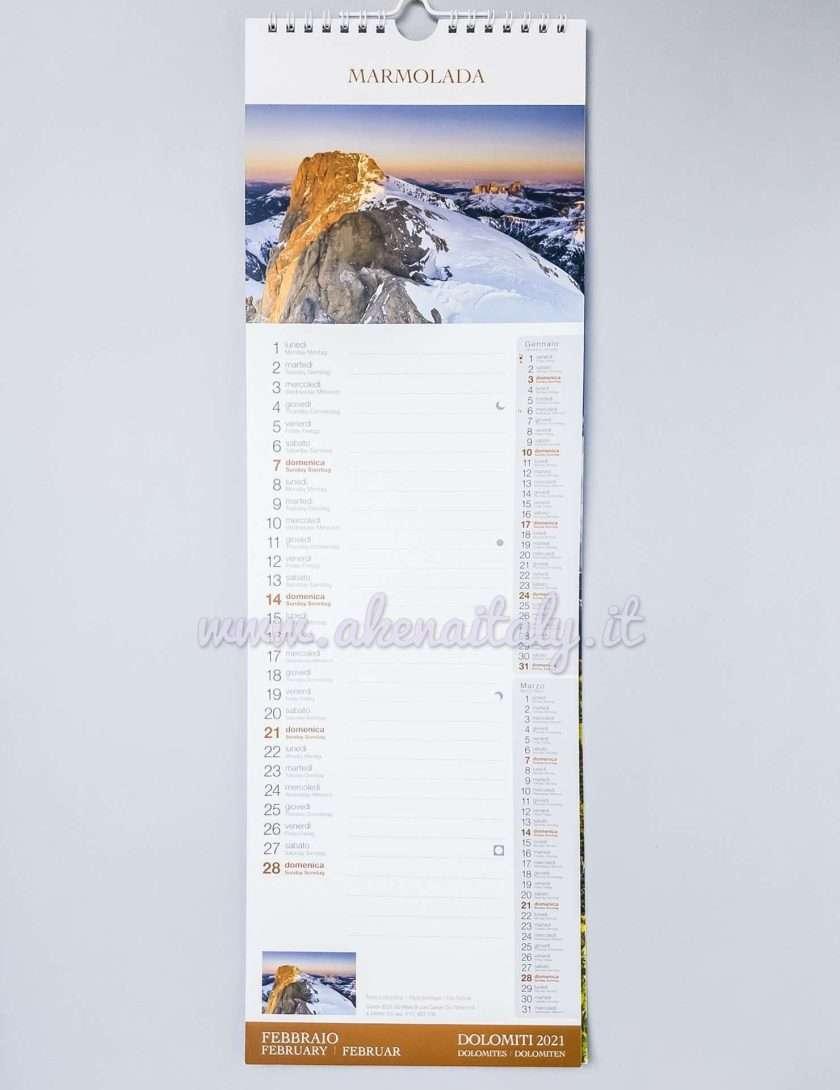 Calendario da parete Dolomiti 2020 - Febbraio