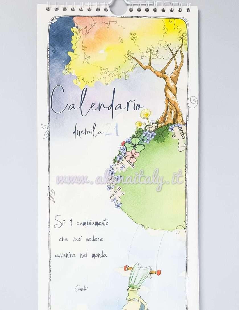 Calendario da parete Disegnata 2021 - Copertina