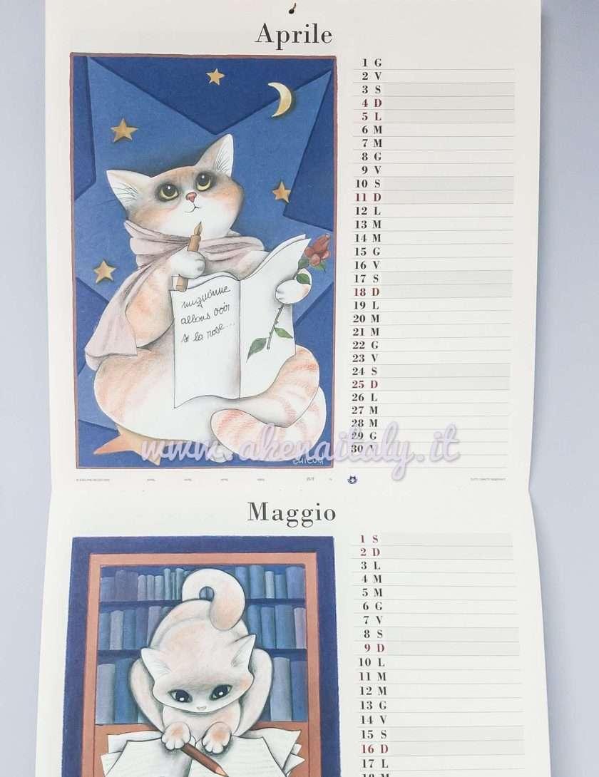 Calendario da parete Quadrato Gatteria 2021 - Aprile e Maggio