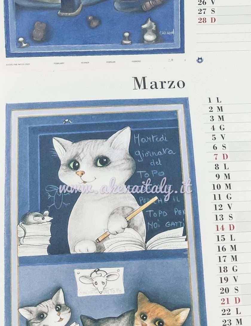 Calendario da parete Quadrato Gatteria 2021 - Marzo