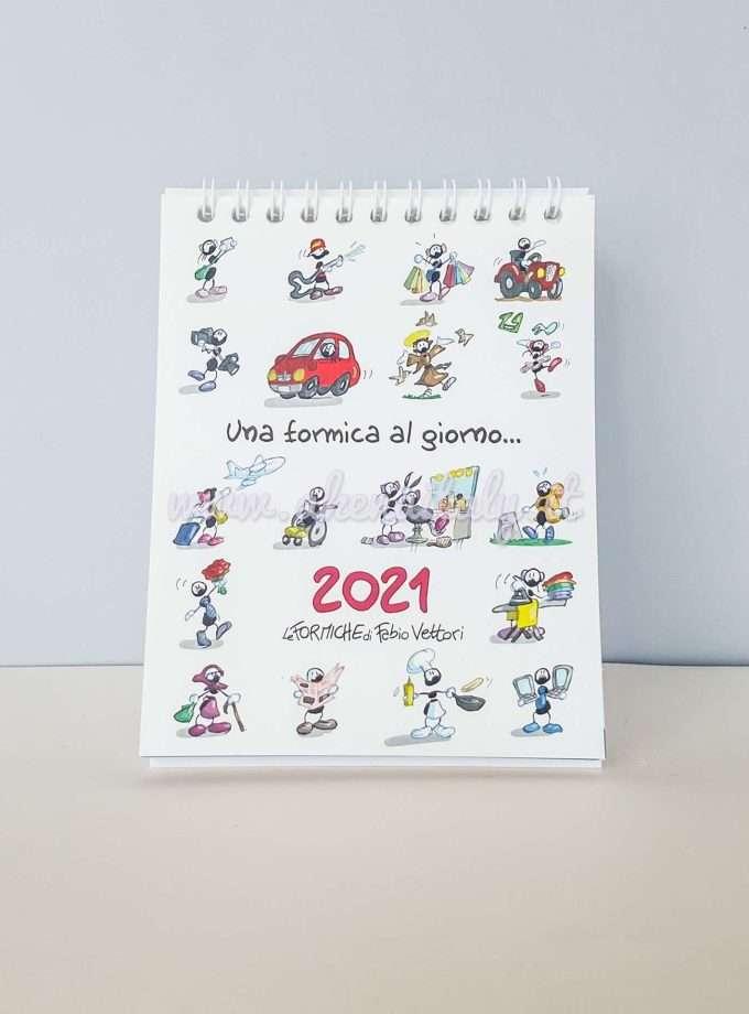 Calendario da tavolo Le Formiche di Fabio Vettori 2021 - Copertina