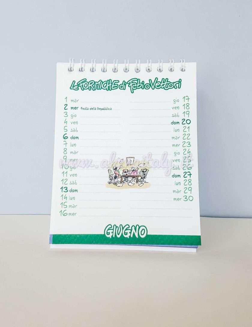 Calendario da tavolo Le Formiche di Fabio Vettori 2021 - Giugno