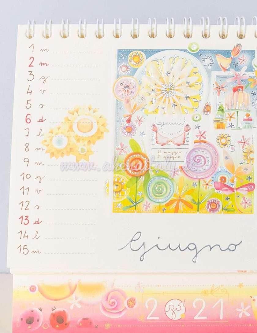 Calendario da tavolo Goccioline 2021 - Giugno